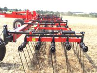 The 5 rows of tines working