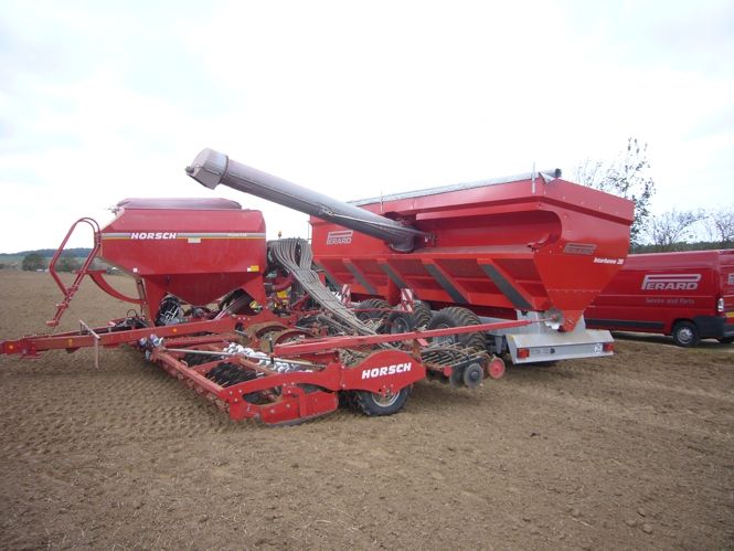 TTR38 loading seed into drill