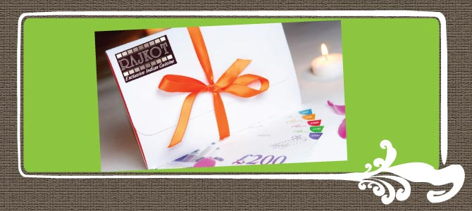 Rajkot Indian Restaurant Gift Vouchers